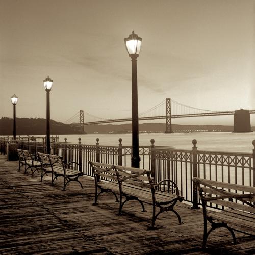 Alan Blaustein San Francisco Bay Bridge At Dusk