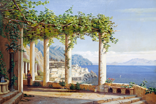 Carl Frederic Aagaard Amalfi Del Convento Die Capuccini
