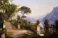 Carl Frederic Aagaard Loggia Mit Blick Uber Den Comer See