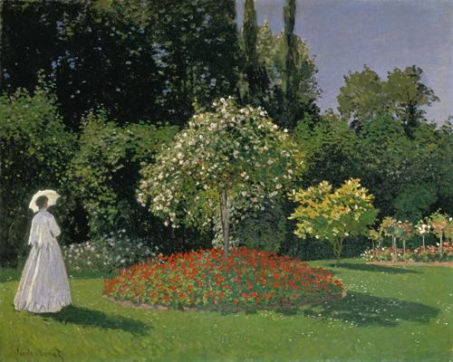 Claude Monet Dame Im Garten 1867
