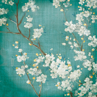 Danhui Nai White Cherry Blossoms Ii On Blue Aged No