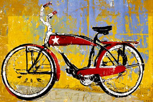 Daryl Thetford Red Bike With Star