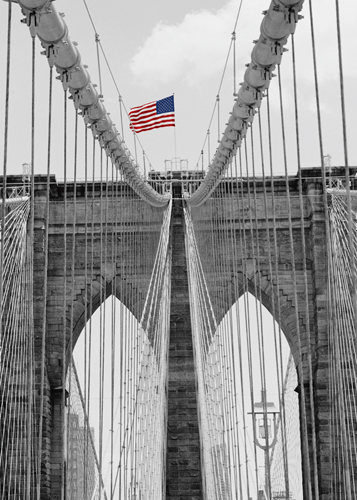Dave Butcher Brooklyn Bridge Tower And Cables 2