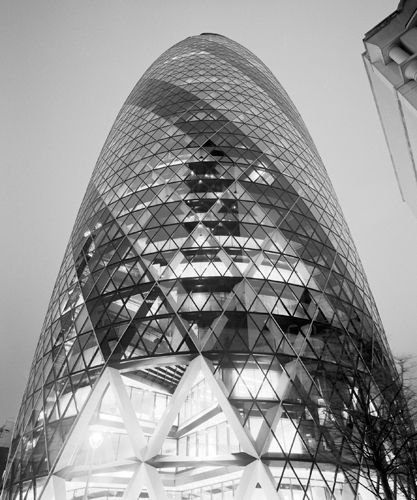 Dave Butcher The London Gherkin At Night