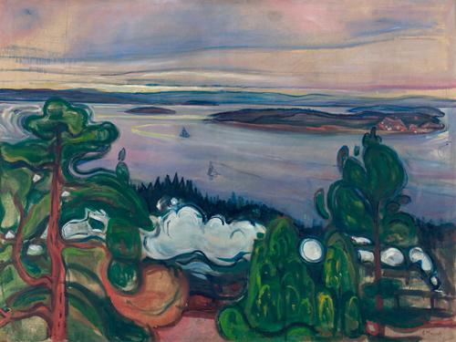 Edvard Munch Train Smoke 1900