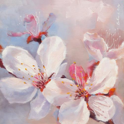Emmanuelle Mertian De Muller Prunus En Fleurs I