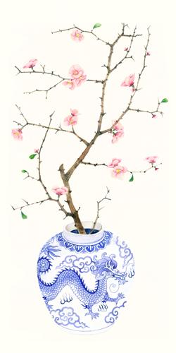 Gabby Malpas Blue Porcelain Cherry Blossom