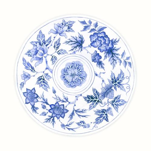 Gabby Malpas Blue Porcelain Plate 2