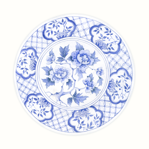 Gabby Malpas Blue Porcelain Plate 4