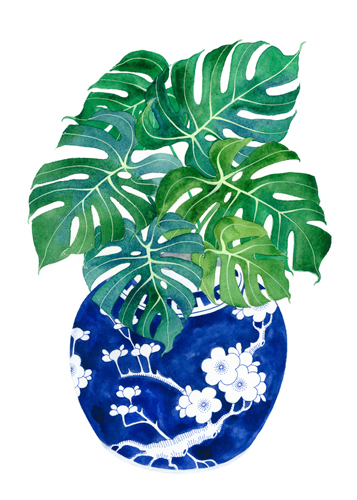 Gabby Malpas Blue Porcelain Tropical 1