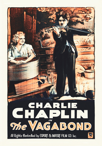 Hollywood Photo Archive Charlie Chaplin French The Vagabond