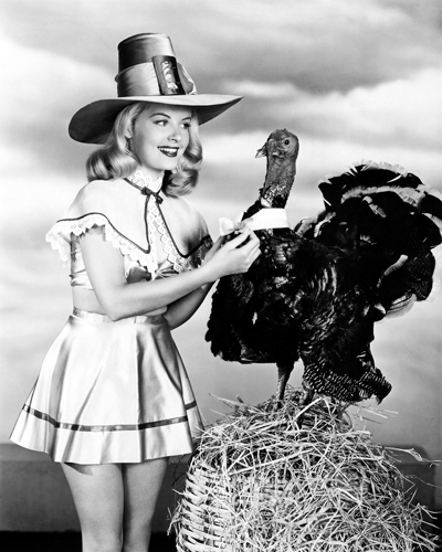Hollywood Photo Archive Doris Day With A Thanksgiving Turkey