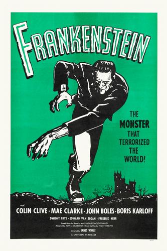 Hollywood Photo Archive Frankenstein Rerelease 1960