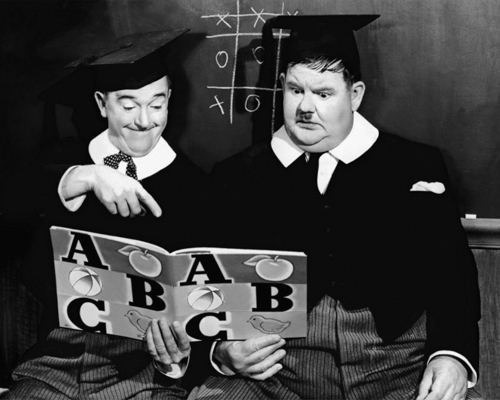 Hollywood Photo Archive Laurel Hardy Chump At Oxford 1940