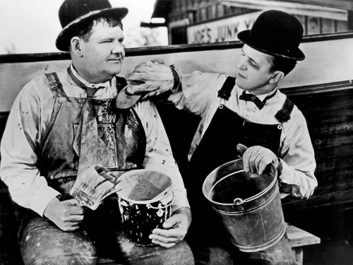 Hollywood Photo Archive Laurel Hardy Towed In A Hole 1936