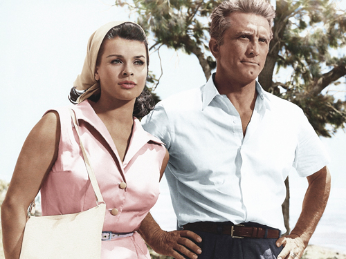Hollywood Photo Archive Senta Berger With Kirk Douglas