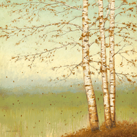 James Wiens Golden Birch Ii With Blue Sky
