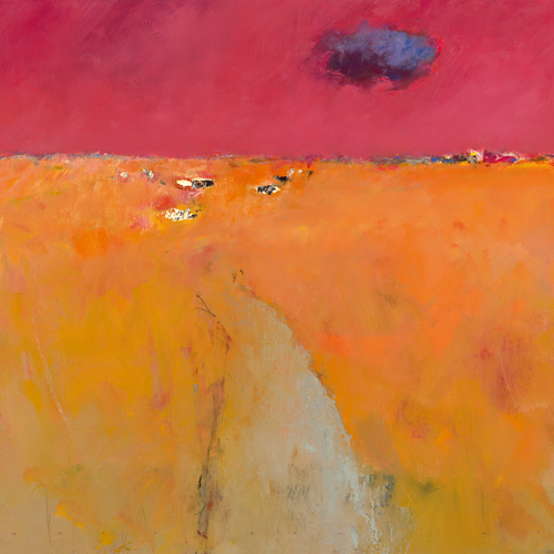 Jan Groenhart Landscape In Orange And Red