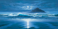 John F Sim Moonlit St Michaels Mount