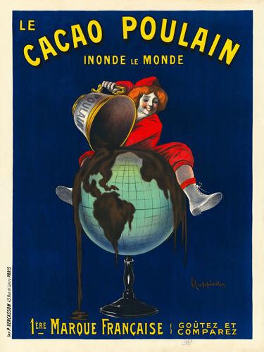 Leonetto Cappiello Le Cacao Poulain Inonde Le Monde 1911