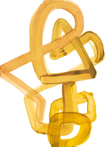 Lora Gold Gestural Brush 2