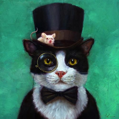 Lucia Heffernan Tuxedo Cat