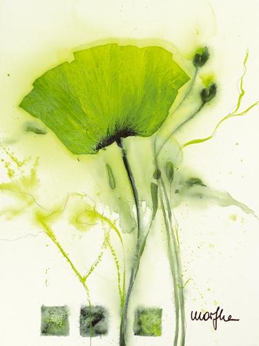 Marthe Coquelicot Vert I