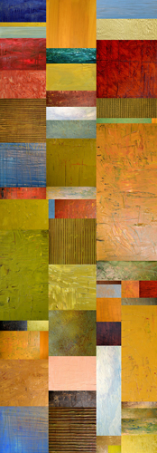 Michelle Calkins Color Panels With Blue Sky