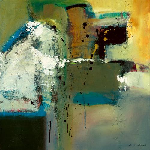 Natasha Barnes Abstract In Green I
