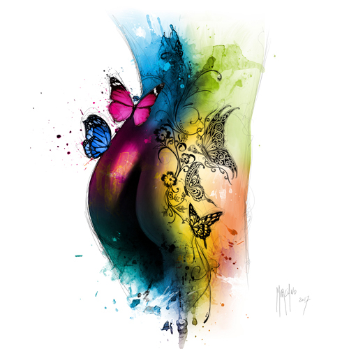 Patrice Murciano Butterfly Tattoo