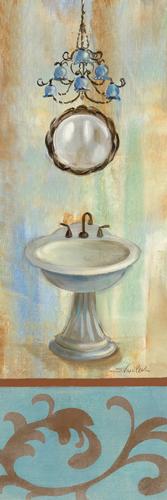 Silvia Vassileva French Bathroom In Blue Ii