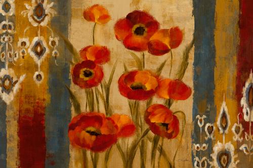 Silvia Vassileva Ikat Floral Tapestry