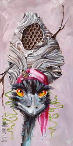 Stephanie Aguilar Emu With Hornet S Nest