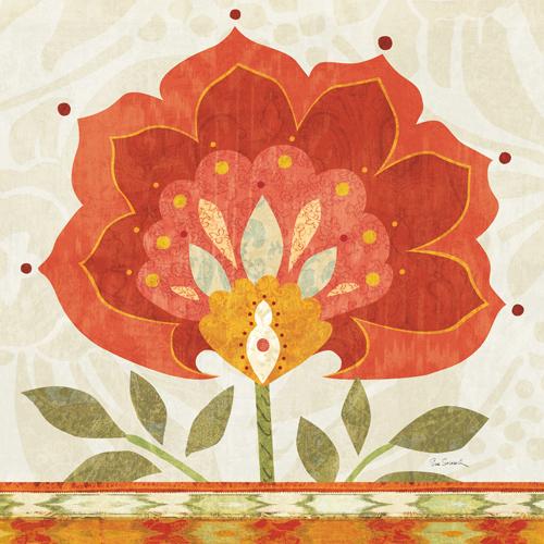 Sue Schlabach Ikat Bloom Ii