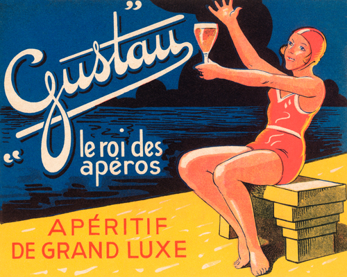 Vintage Booze Labels Gustau Aperetif