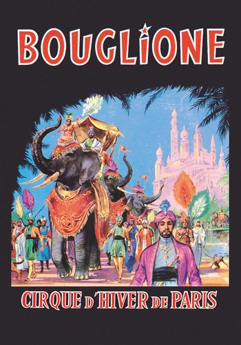 Vintage Elephant Bouglione Cirque D Hiver De Paris