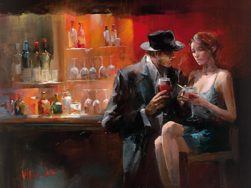 Willem Haenraets Evening In The Bar I