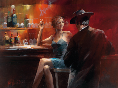 Willem Haenraets Evening In The Bar Ii
